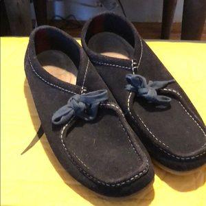 Clarks Navy Chukka Shoe